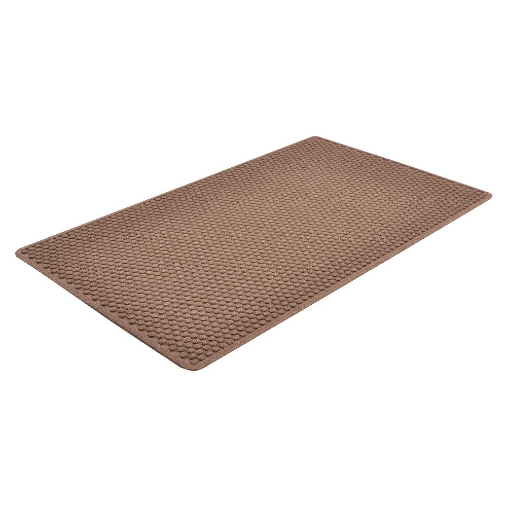 Image of Brown Solid Doormat - (3'X10' Runner) - HomeTrax