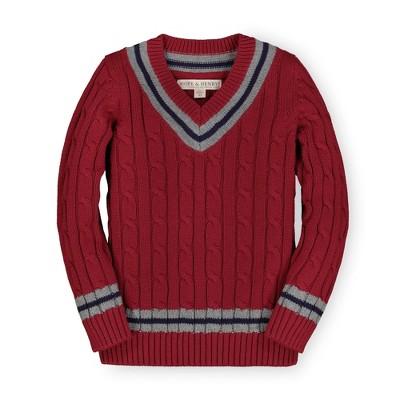 Hope & Henry Boys' White Tennis Sweater, Kids