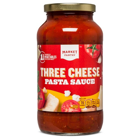 Three Cheese Pasta Sauce 26 oz - Market Pantry™ - image 1 of 1