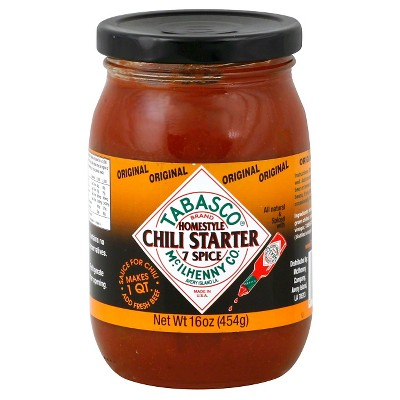Tabasco Original Homestyle 7 Spicy Chili Starter 16oz