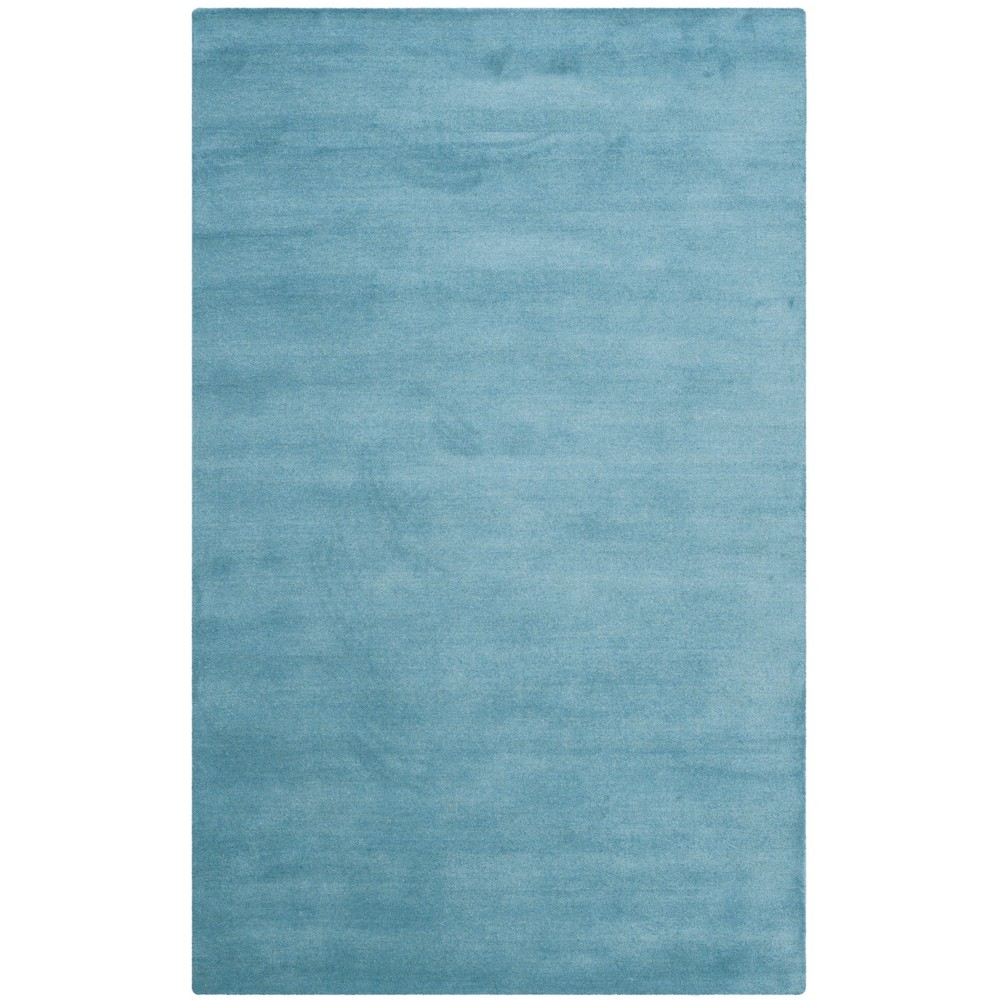 Solid Tufted Area Rug Blue