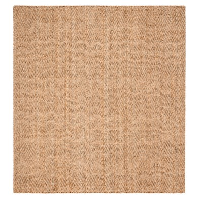 Natural Solid Woven Square Area Rug 6'X6' - Safavieh