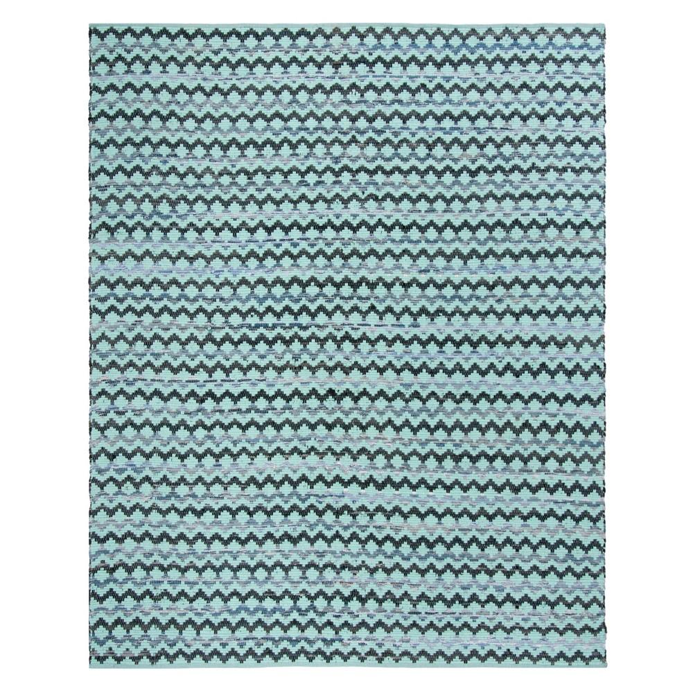 9'X12' Geometric Woven Area Rug Turquoise/Blue/Black - Safavieh