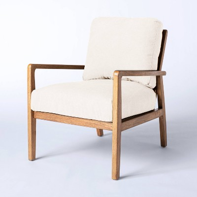 Mixed Material Accent Chair Cream - Threshold™ designed with Studio McGee