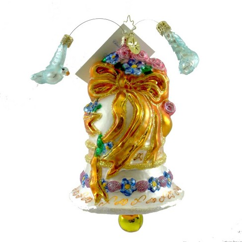 Christopher Radko Wedded Dove Chime Ornament Bell Marriage - image 1 of 1