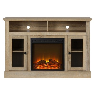 Pinnacle Point Electric Fireplace Tv Console For Tvs Up To A 50  - Natural - Room & Joy