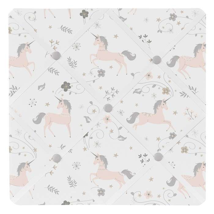 "13"" Unicorn Memo Board - Sweet Jojo Designs - image 1 of 1"