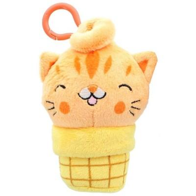 Se7en20 Kitty Cone Clip Sherburt 5 inch Plush Backpack Clip