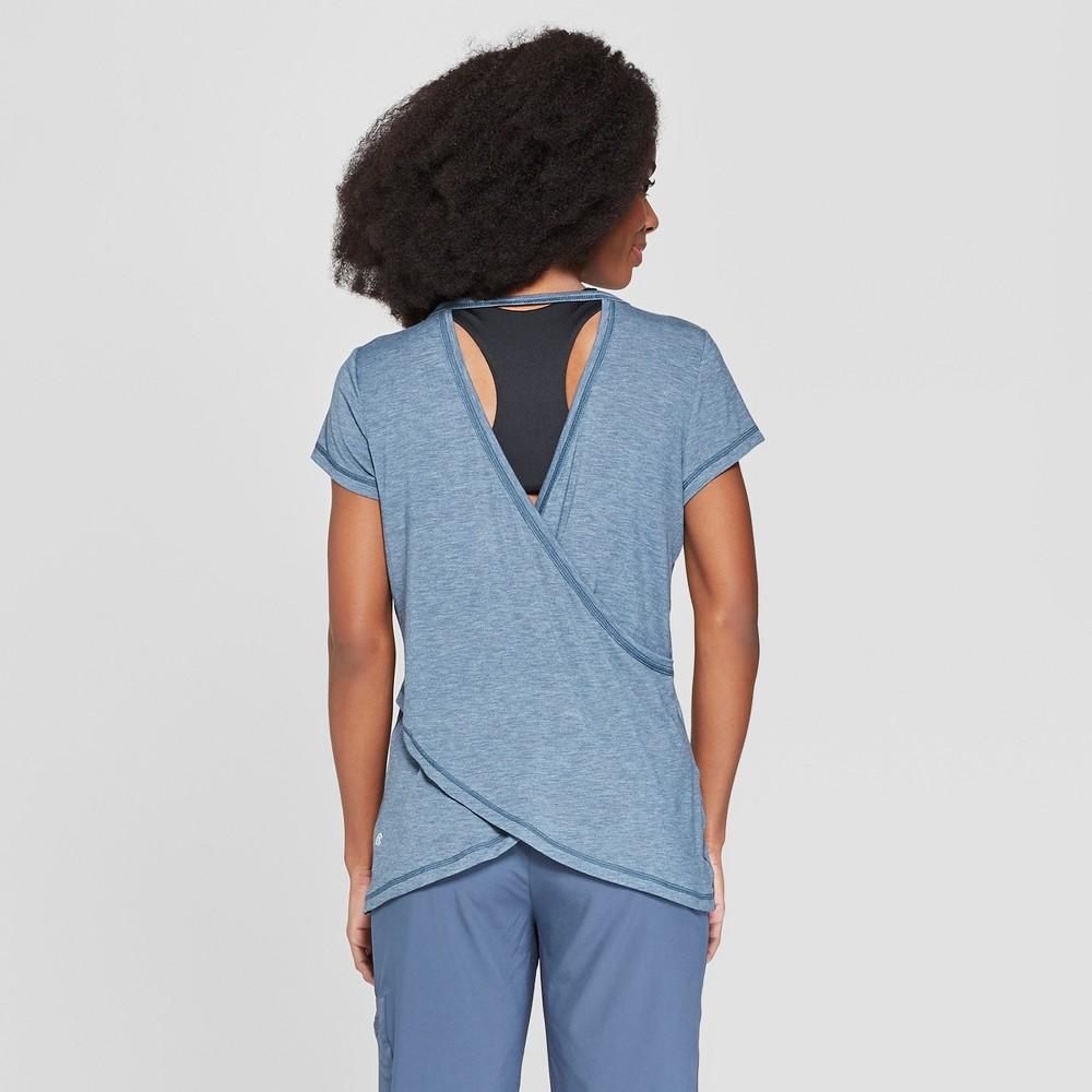 Women's Short Sleeve Draped Back T-Shirt - C9 Champion Grey Heather S