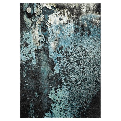 """Blue Abstract Loomed Accent Rug - (2'7""""X5')- Safavieh"""