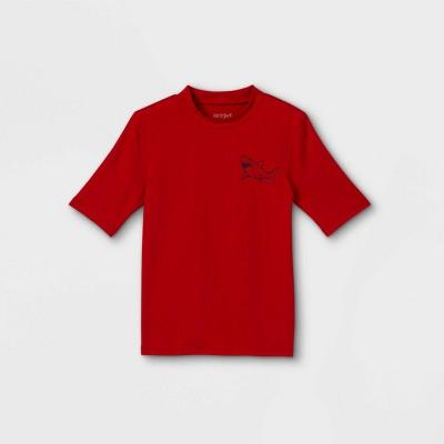 Boys' Shark Print Rash Guard Swim Shirt - Cat & Jack™ Red