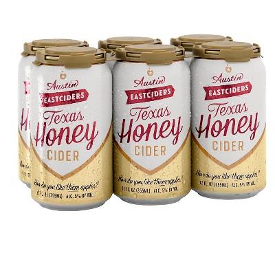 Austin Eastciders Texas Honey Hard Cider - 6pk/12 fl oz Cans