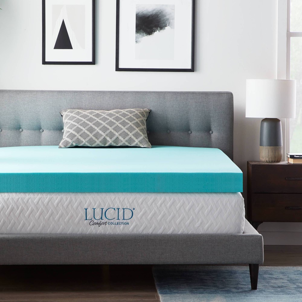 "Image of ""California King Comfort Collection 4"""" SureCool Gel Infused Memory Foam Mattress Topper - Lucid"""