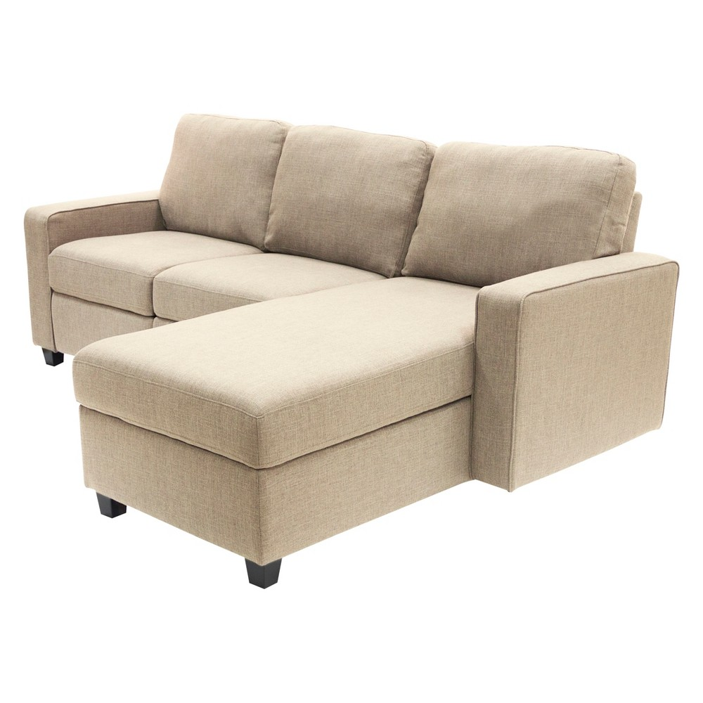 Palisades Reclining Sectional with Right Storage Chaise Beige - Serta