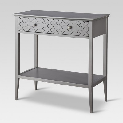 Fretwork Console Table Gray - Threshold™