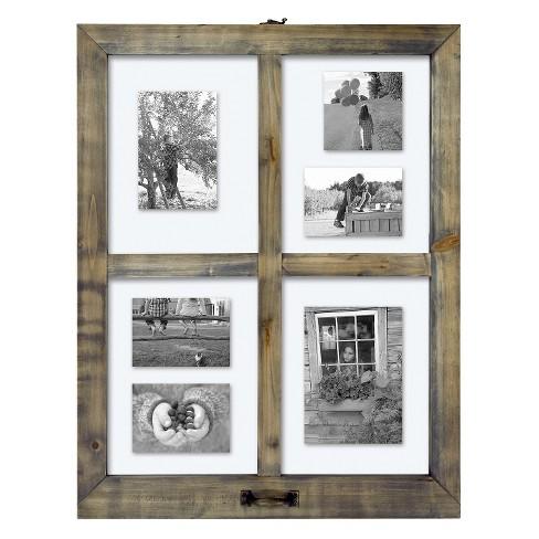4 Opening Windowpane Collage Frame Weathered Wood Threshold Target