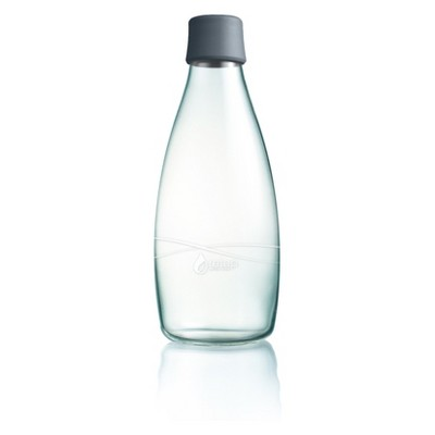 Retap Glass Water Bottle 27oz - Gray