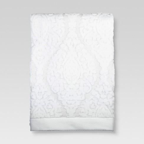 Ogee Bath Towels White Threshold
