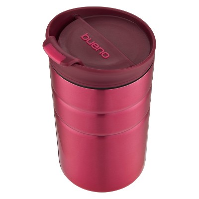 Contigo 10oz Bueno Vacuum-Insulated Stainless Steel Travel Mug with Flip Lid Red