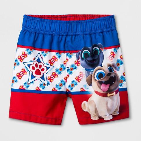 Toddler Boys' Puppy Dog Pals Swim Trunks - Blue - image 1 of 1