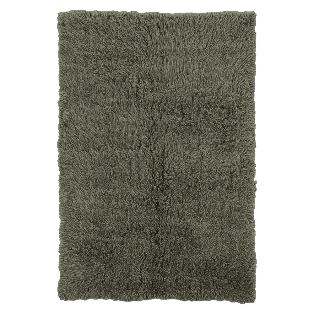 Image of 100% New Zealand Wool Flokati Area Rug - Olive (8'x10'), Green