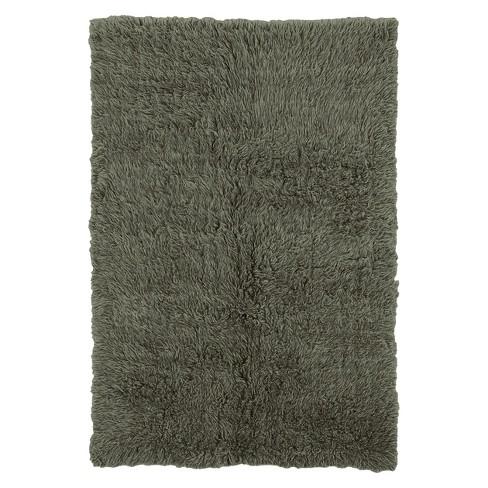 100 New Zealand Wool Flokati Area Rug Olive 8 X10