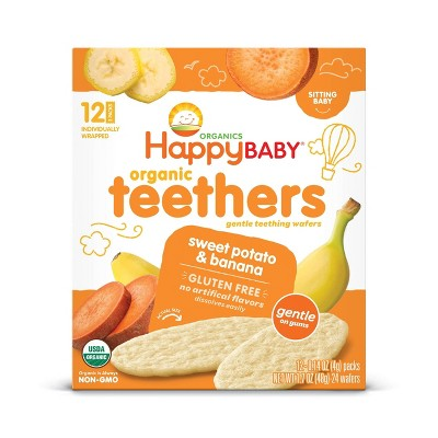 HappyBaby Sweet Potato & Banana Organic Teethers - 12ct/0.14oz Each