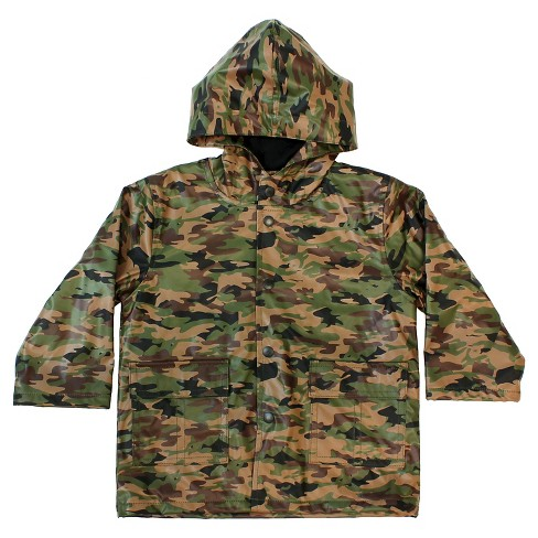Toddler Boy Camo Rain Coat Green - Western Chief - image 1 of 1