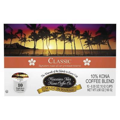 Hawaiian Isles Classic Medium Roast Coffee - Single Serve Pods - 10ct