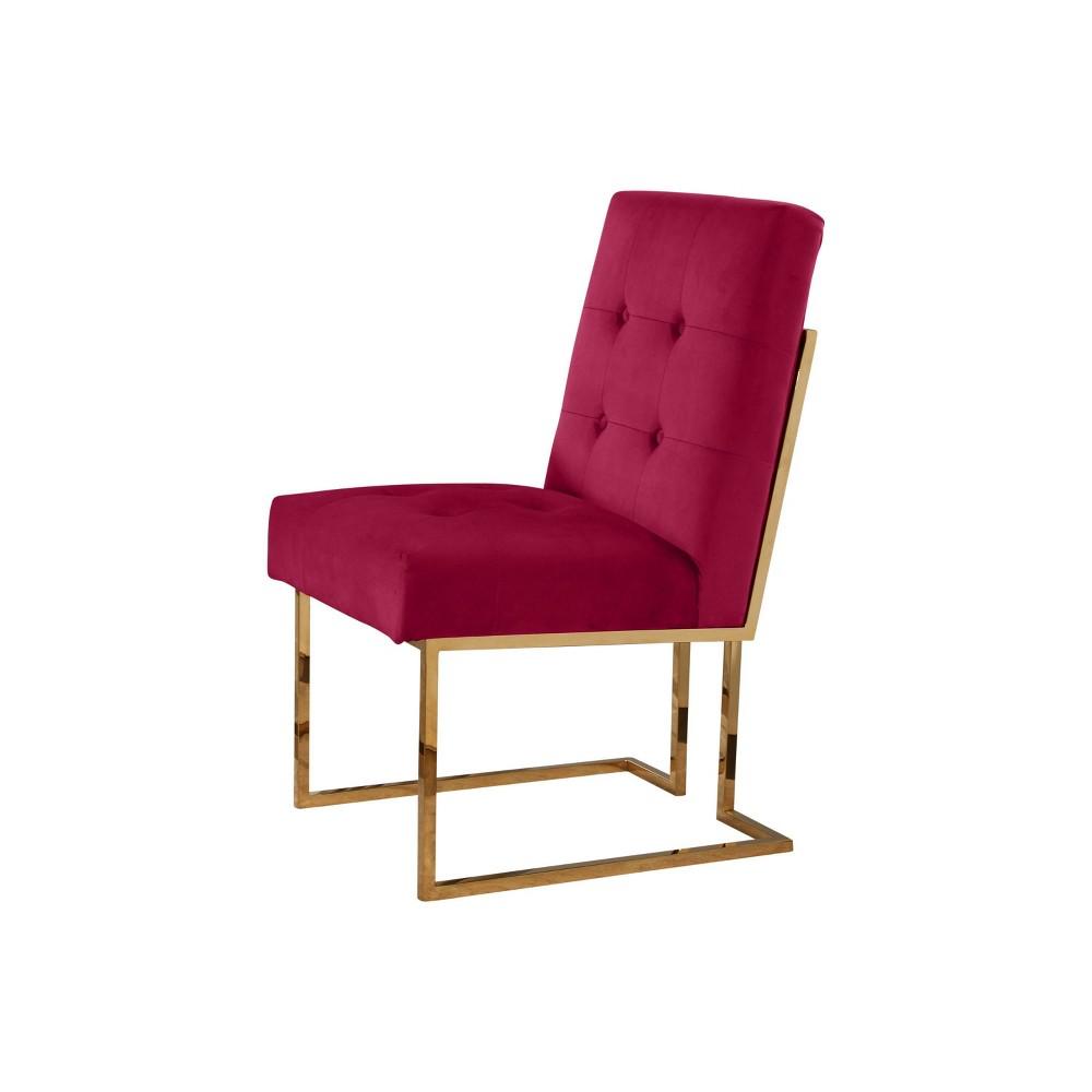 Image of 27 Nieve Velvet Dining Chair - Rose (Pink) - Abbyson
