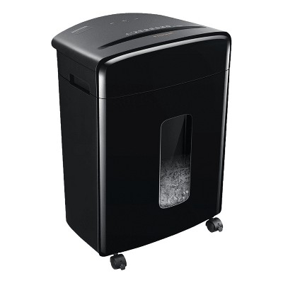 Bonsaii C221-A Portable 15 Sheet Cross Cut Paper, Credit Card, and Disc Home Office Shredder Bin with 5.3 Gallon Capacity Wastebasket and 4 Wheels
