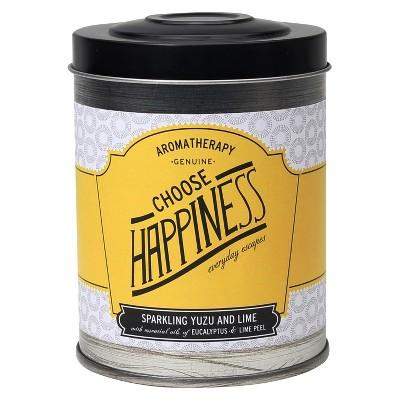 8.6oz Lidded Tin Jar Candle Choose Happiness - Aromatherapy