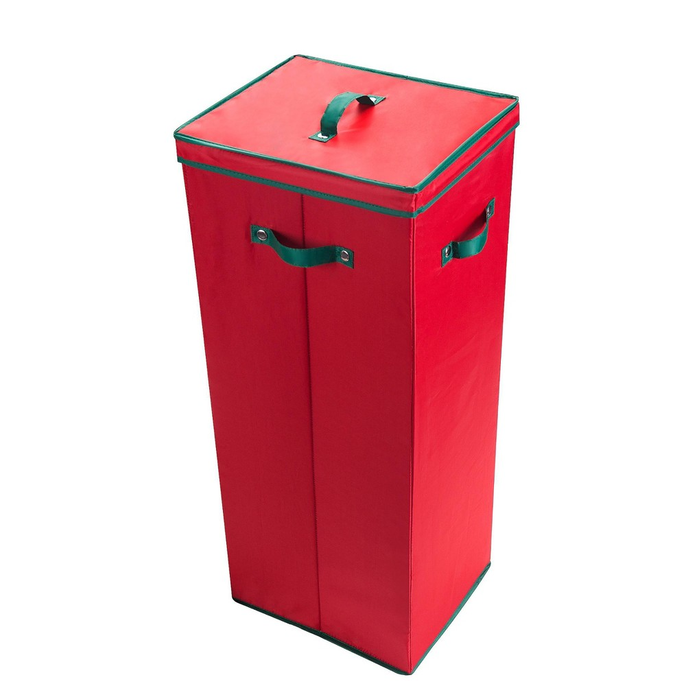 "Image of ""30"""" All Occasion Vertical Wrapping Paper Storage Box with Lid Red - Elf Stor"""