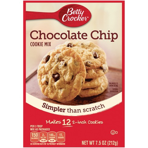 Betty Crocker Snack Size Chocolate Chip Cookie Mix 7 5oz