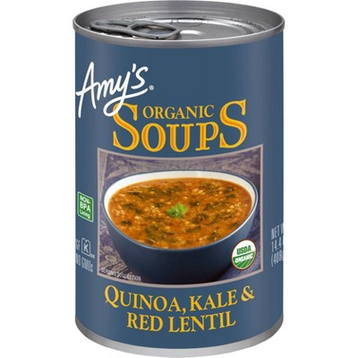 Amy's Organic Quinoa, Kale & Red Lentil Soup - 14.4oz