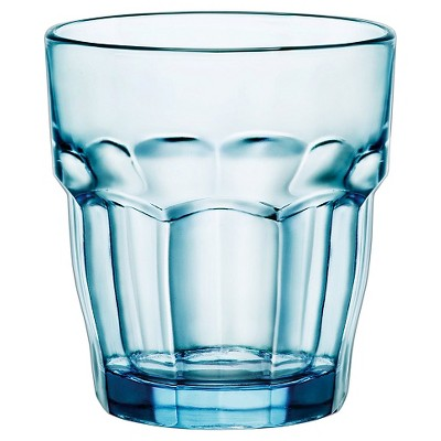 Bormioli Rocco Rock Bar Stackable 9oz Water Glass Set of 6 - Blue