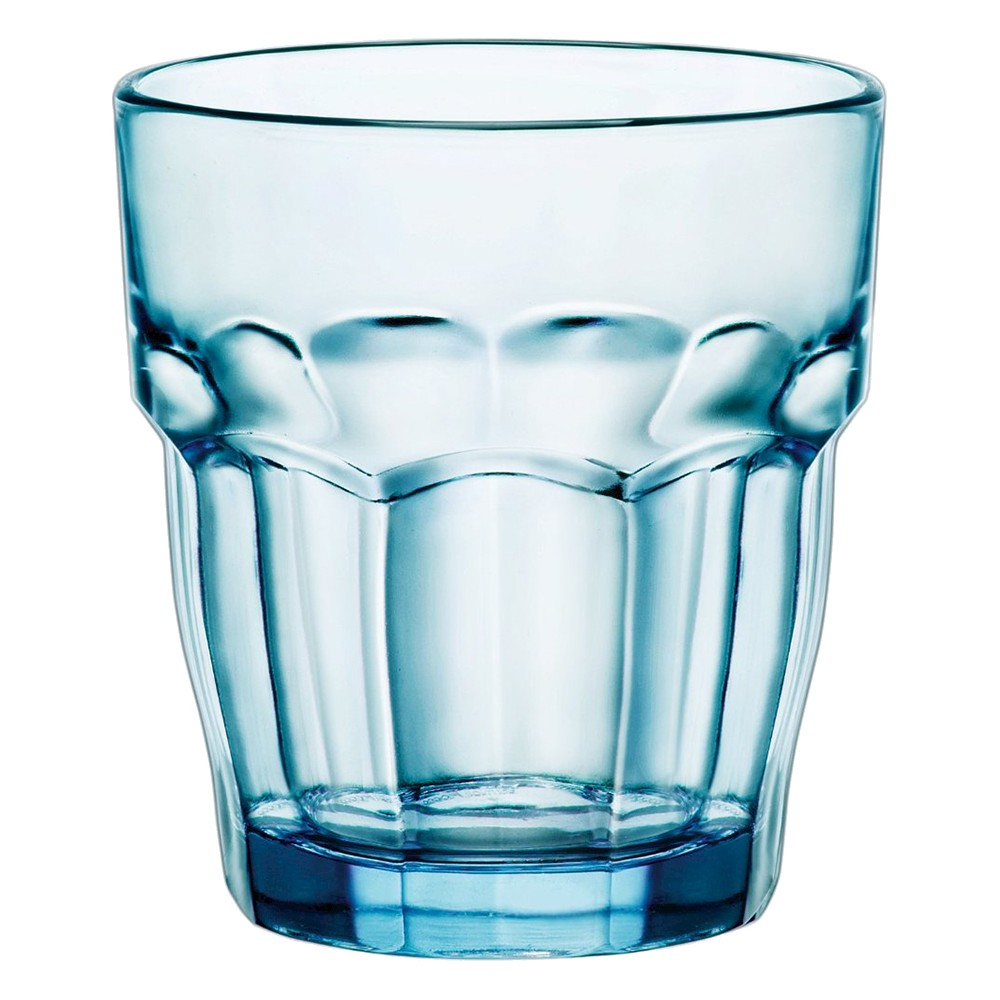 Image of Bormioli Rocco Rock Bar Stackable 9oz Water Glass Set of 6 - Blue