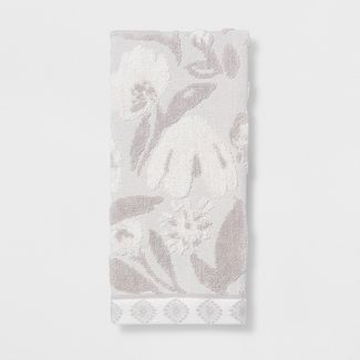 Floral Hand Towel Gray - Opalhouse™