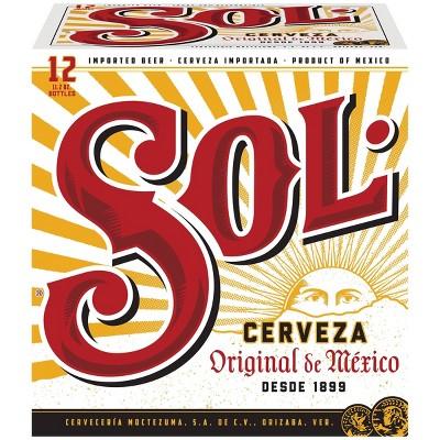 Sol Cerveza Beer - 12pk/11.2 fl oz Bottles