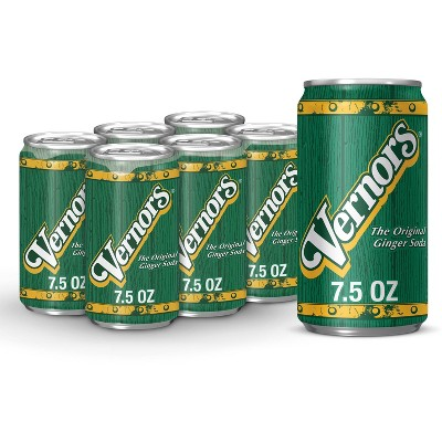 Vernors Ginger Soda - 6pk/7.5 fl oz Cans