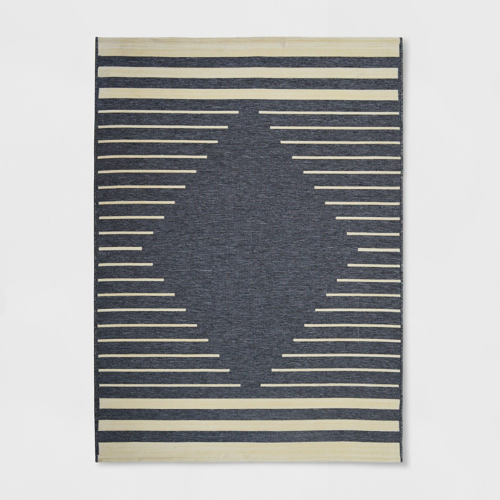 9' x 12' Mod Diamond Outdoor Rug Gray/Ivory - Project 62, White