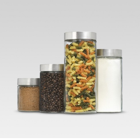Glass Cylinder Canister Set of 4 - Threshold™ - image 1 of 2