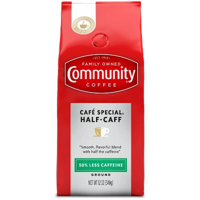 Community Coffee Half-Caff Medium Roast Ground Coffee - 12oz
