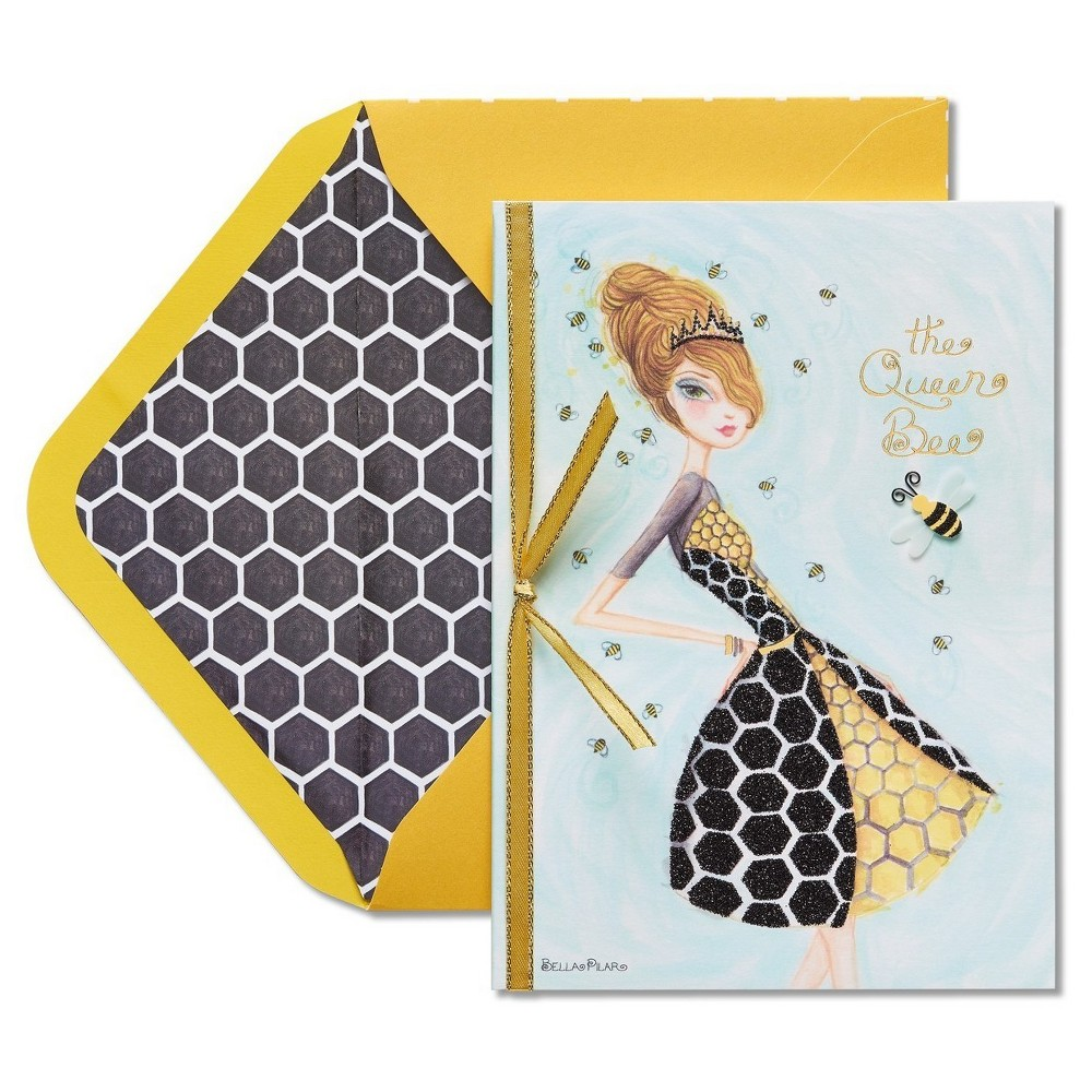 Papyrus Queen Bee Mother's Day Card with Ribbon, Multi-Colored