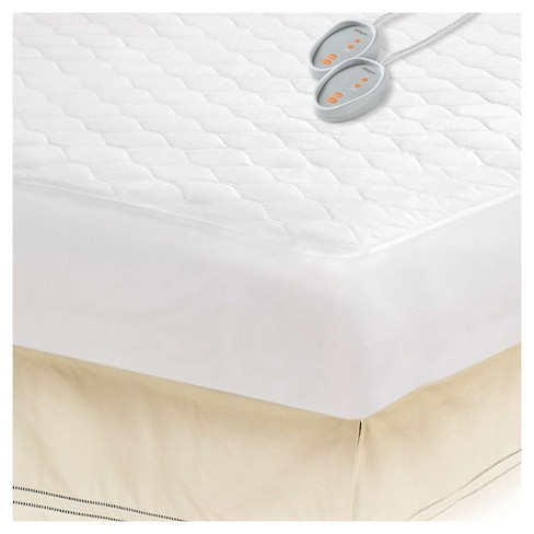 Cotton Blend Heated Mattress Pad Twin Xl White Target