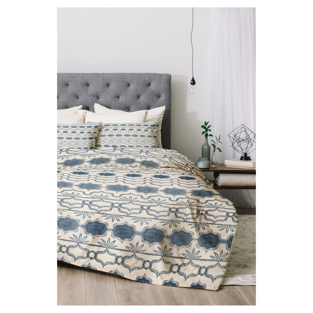 Blue Dash and Ash Tuni Luna Comforter Set (Queen) 3pc - Deny Designs