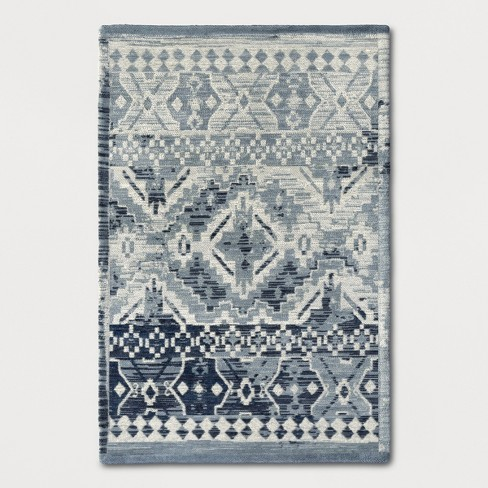 Faded Turquoise Tapestry Woven Area Rug Threshold Target
