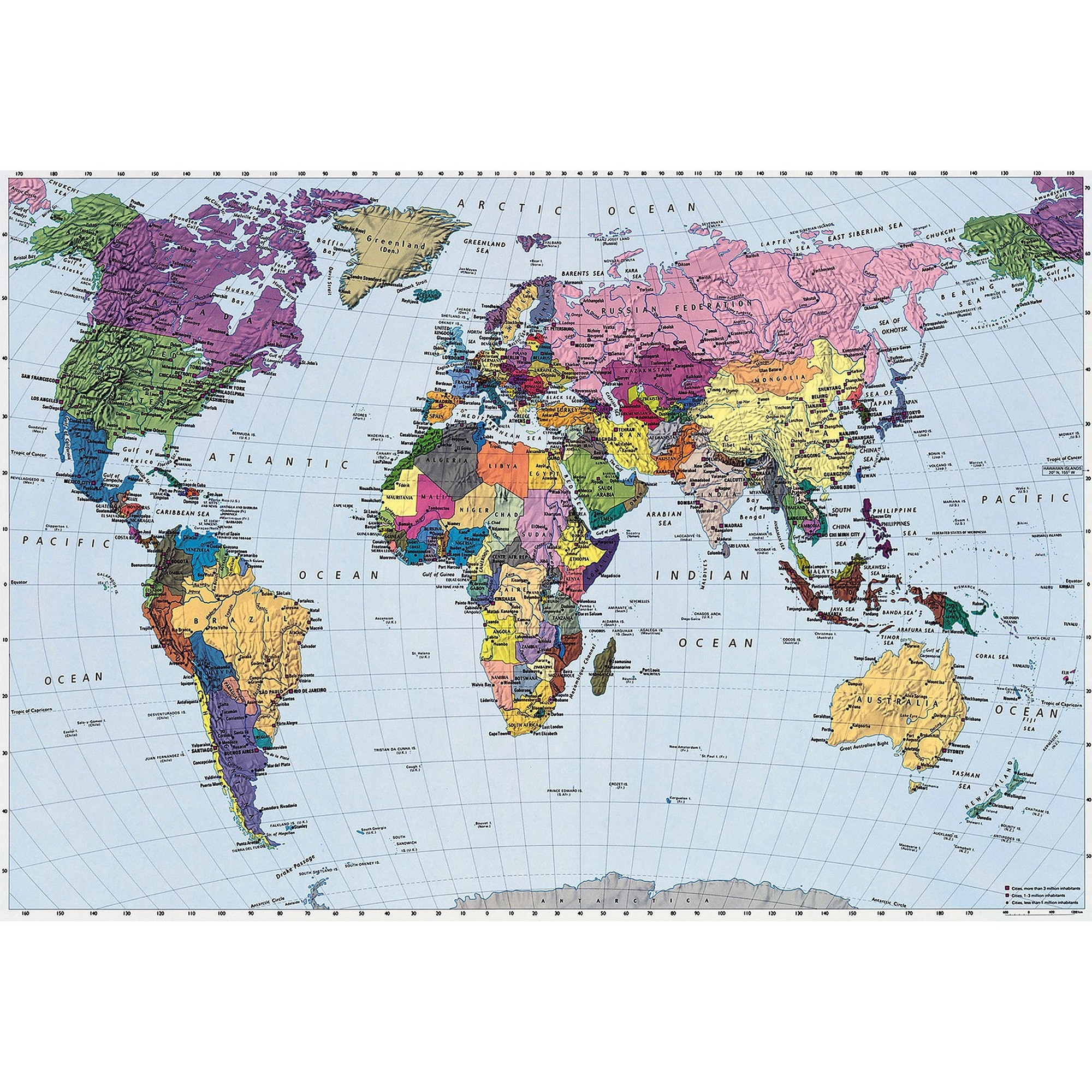 World Map Wall Mural, Wall Mural