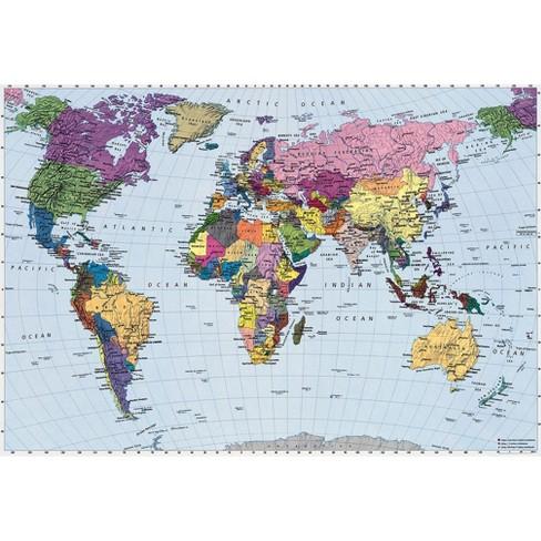 World Map Wall Mural : Target