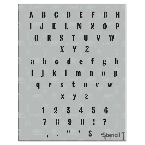 """Stencil1 Industrial Font .5"""" - Letter Stencil 8.5"""" x 11"""" - image 1 of 3"""